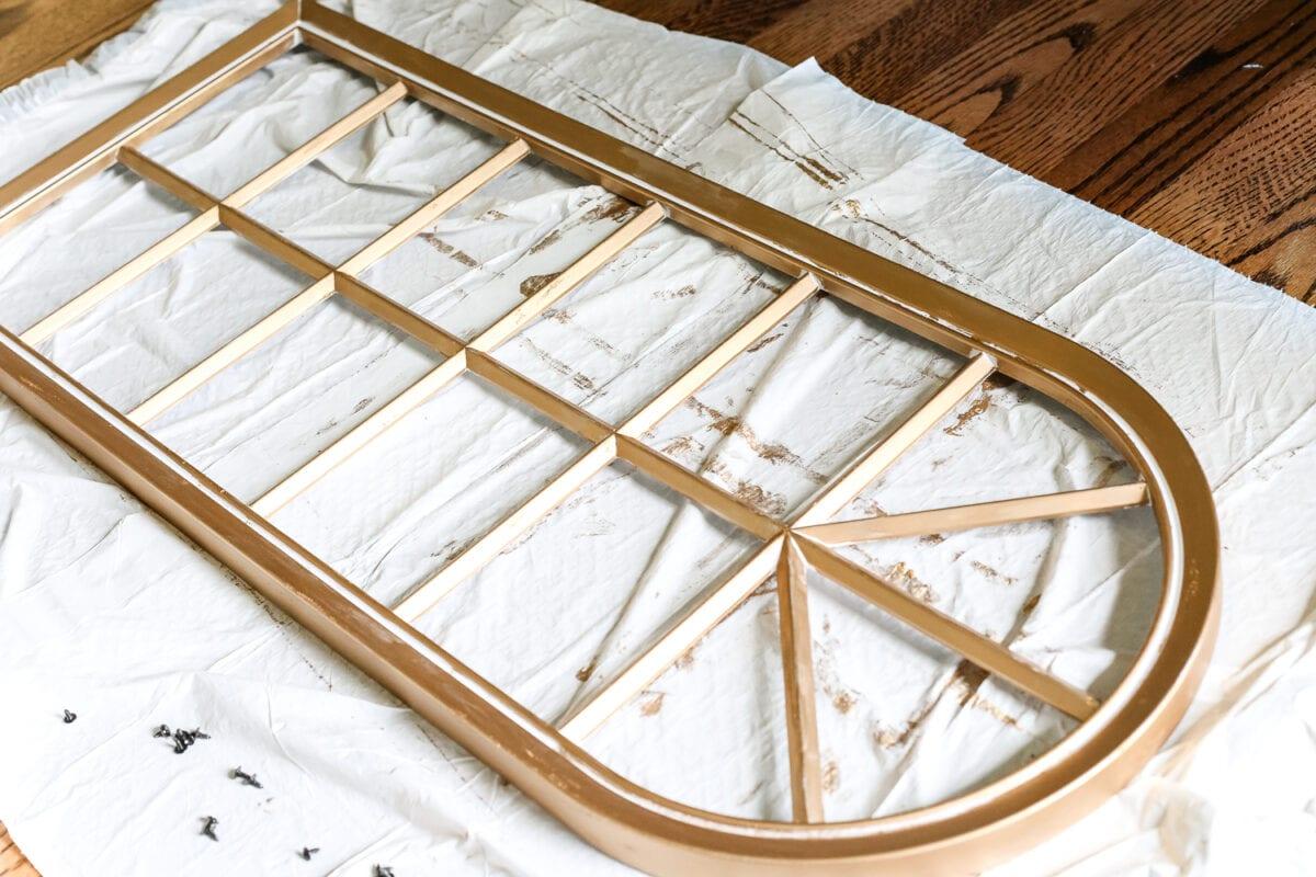 DIY Aged Gold Antique Mirror Makeover - Bless'er House