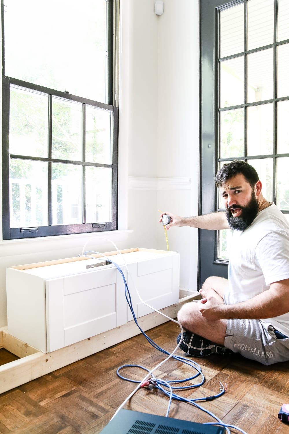 Diy Window Seat From A Kitchen Cabinet Blesserhouse Simplified Tutorial For