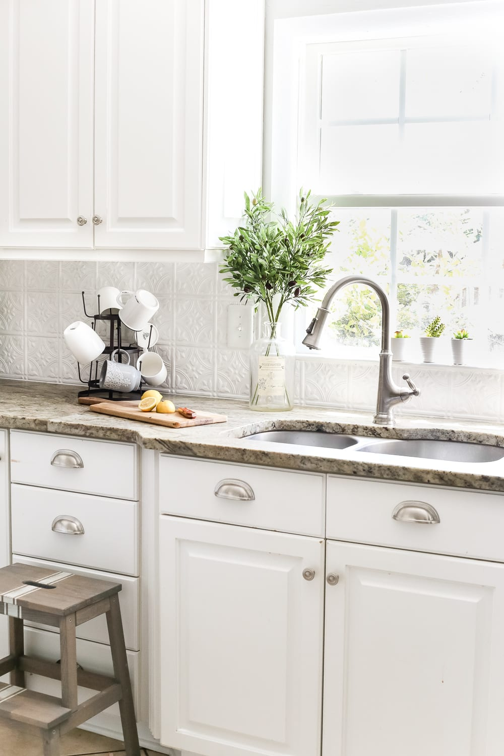 Nice DIY Pressed Tin Kitchen Backsplash | Blesserhouse.com   How To Makeover A Kitchen  Backsplash