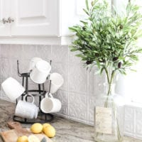 DIY Pressed Tin Kitchen Backsplash