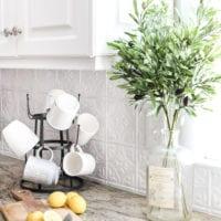 DIY Pressed Tin Kitchen Backsplash