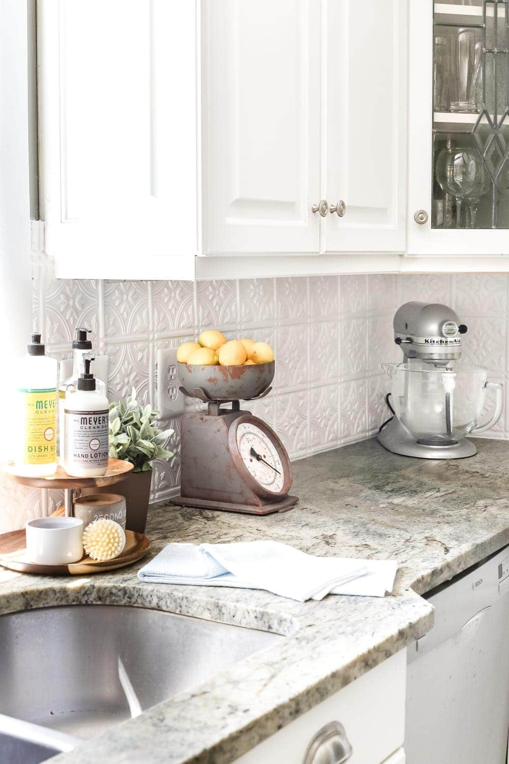 Exceptional DIY Pressed Tin Kitchen Backsplash | Blesserhouse.com   How To Makeover A Kitchen  Backsplash