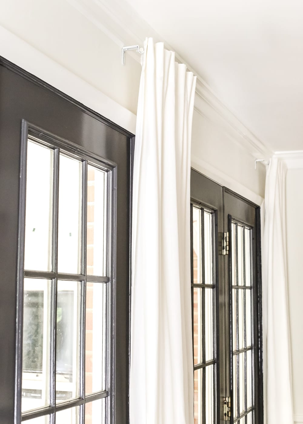 How To Fake A Long Curtain Rod Bless Er House
