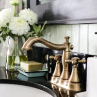 Aqua Meets Urban Powder Room Reveal