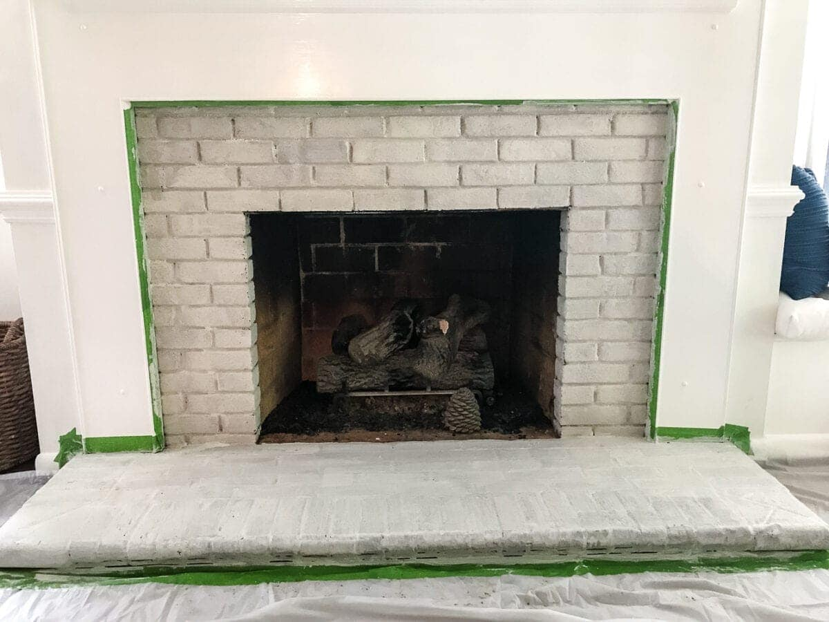 diy lime washed brick fireplace bless u0027er house