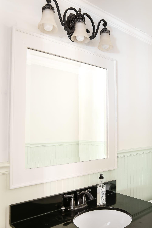 Dry Brushed Black Mirror Makeover - Bless\'er House