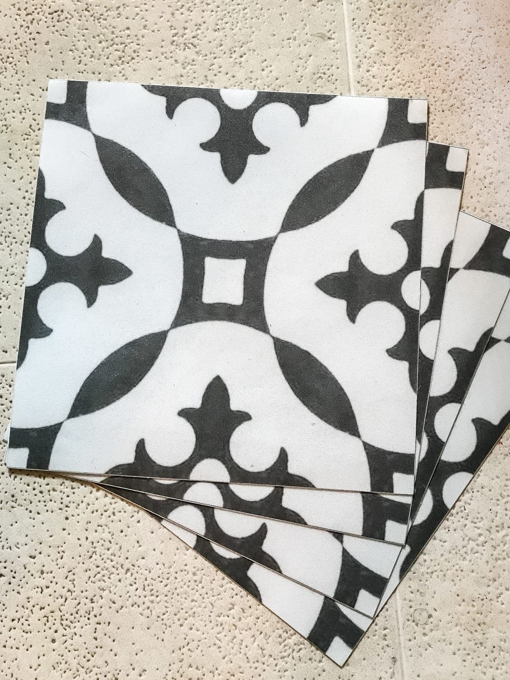 Black White Vinyl Floor Tiles Self Stick Carpet Vidalondon