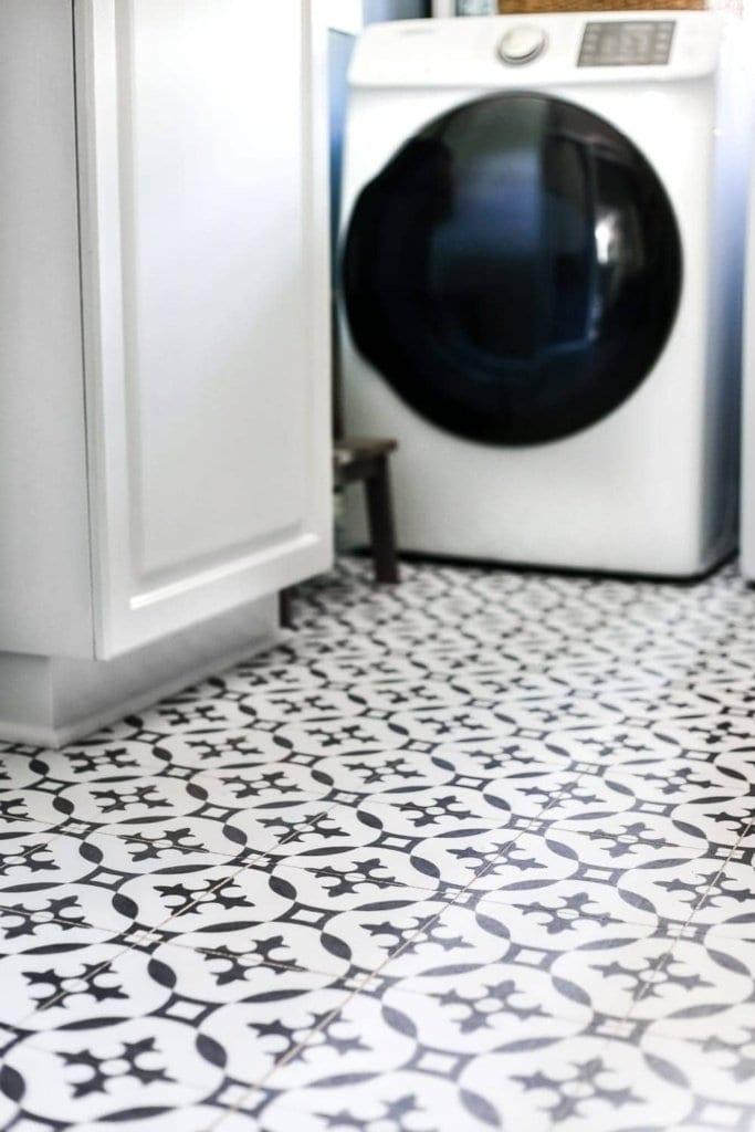 Diy Moroccan Vinyl Tile Floor Bless Er House