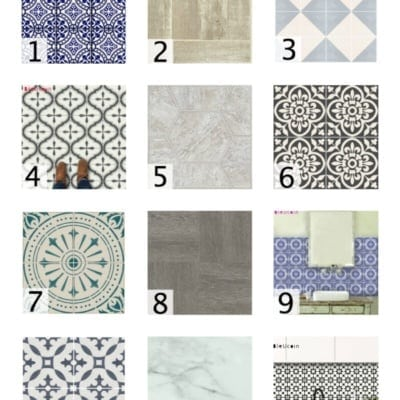 18 Favorite Peel and Stick Vinyl Tiles