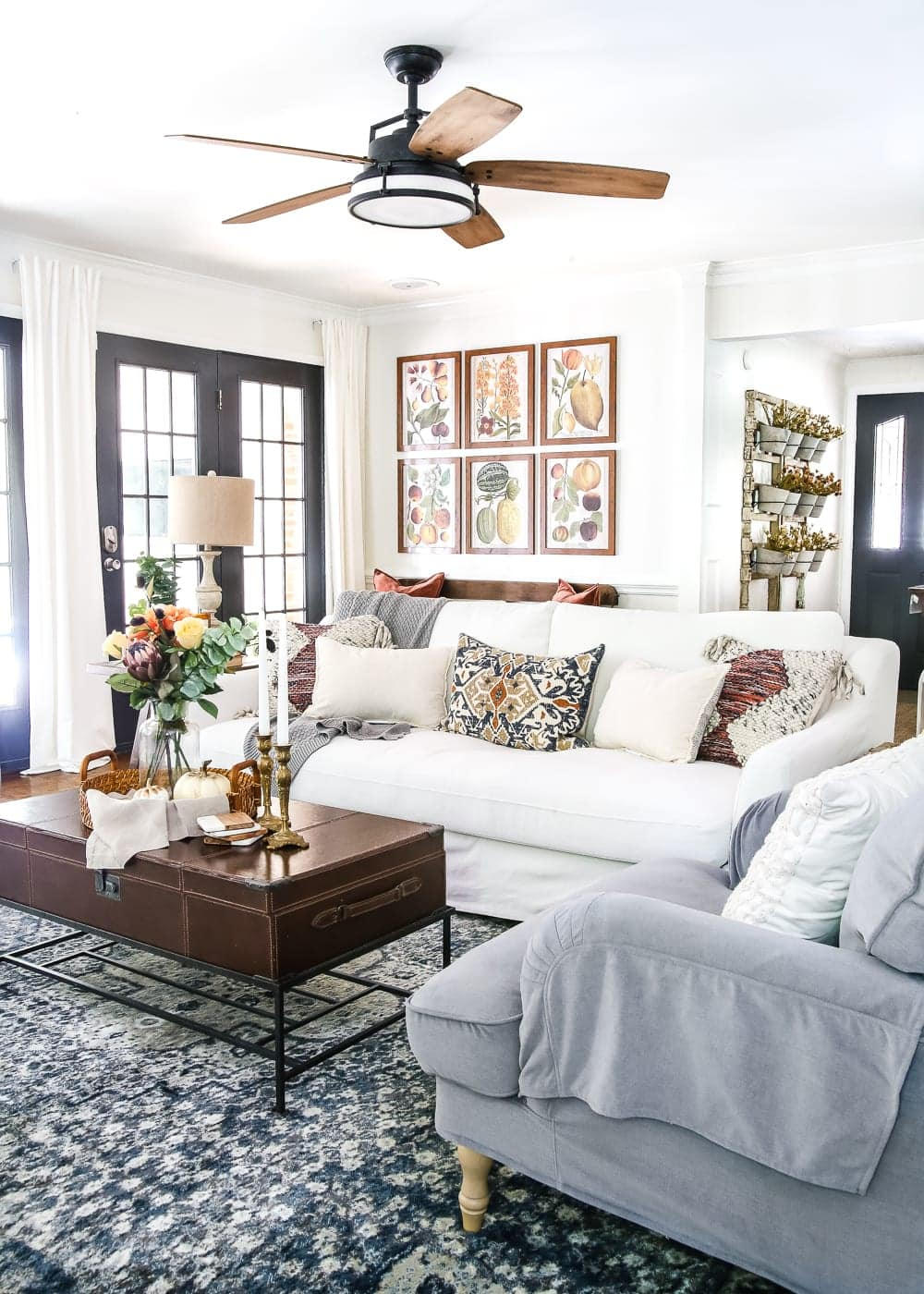Family Room Design Ideas On A Budget: 8 Fall Decorating Tips For A Budget And Fall Home Tour
