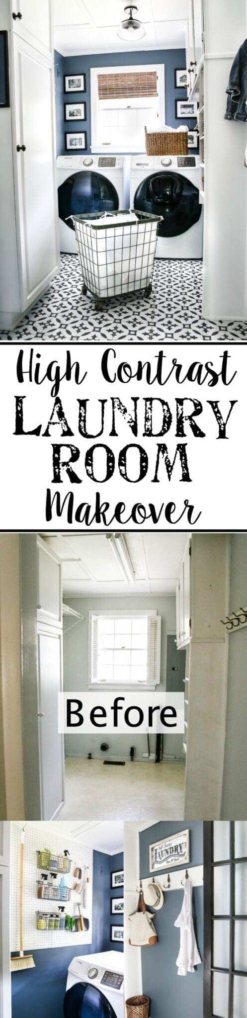 modern laundry room storage
