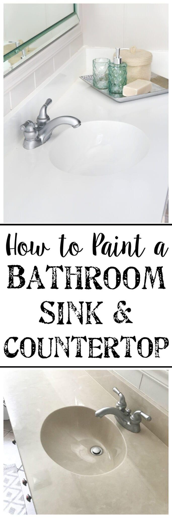 Bathroom Sinks Countertop diy painted bathroom sink countertop - bless'er house
