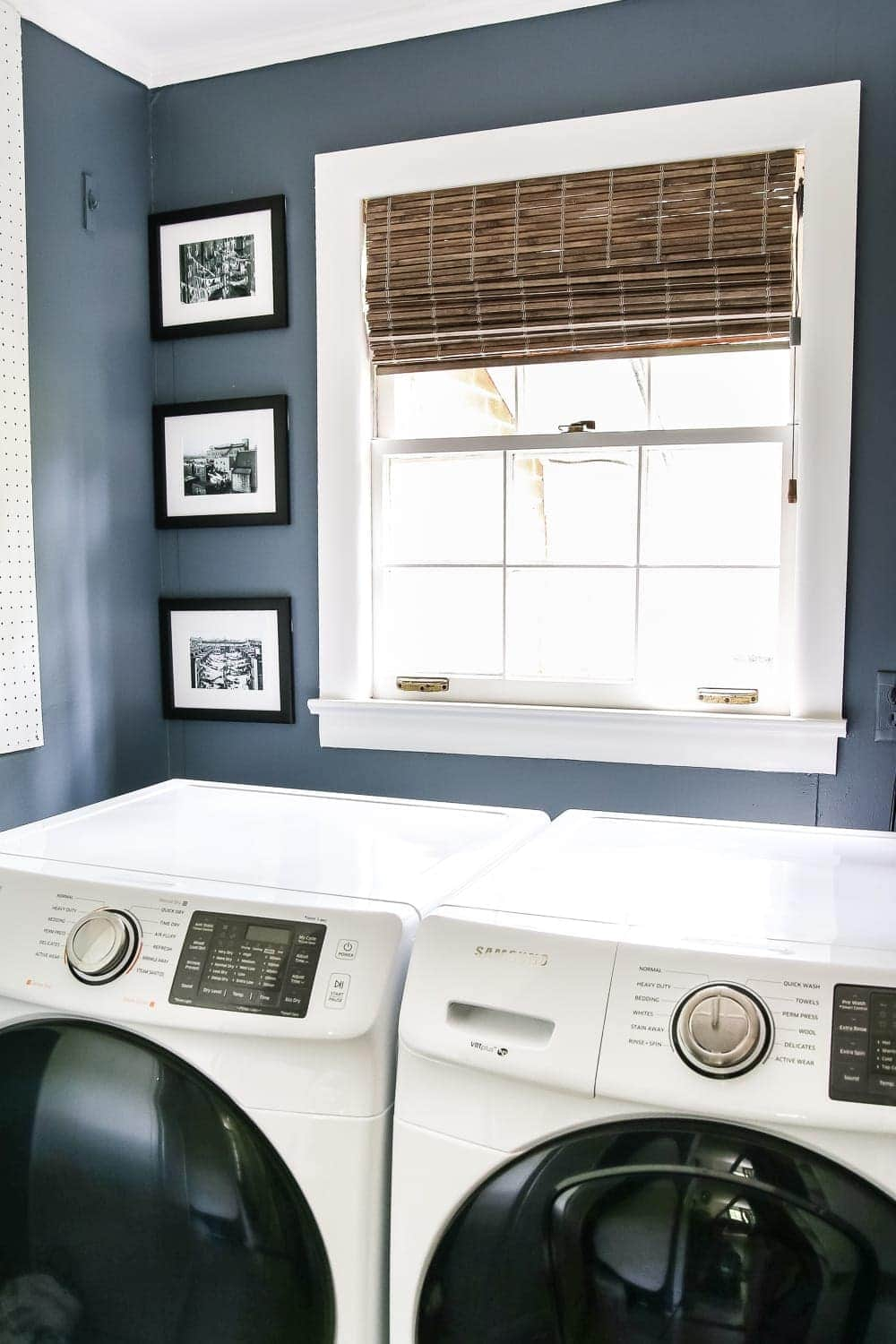 High Contrast Laundry Room Makeover Reveal Bless Er House