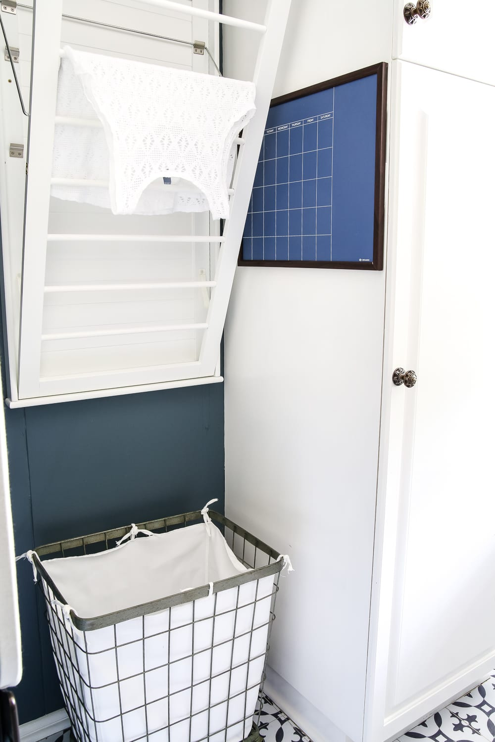 High Contrast Laundry Room Makeover