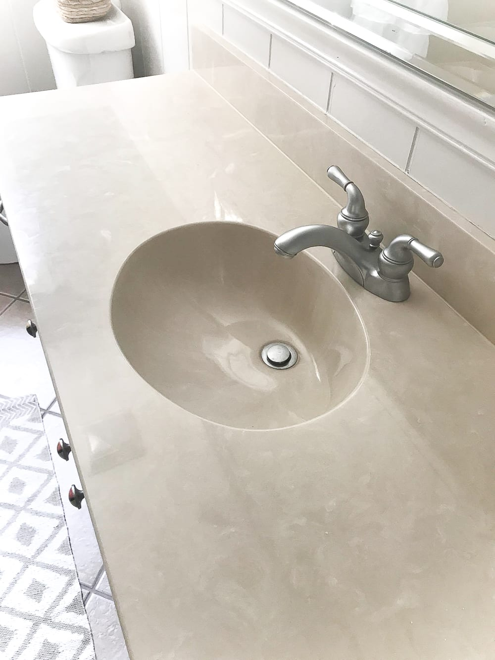 Diy Painted Bathroom Sink Countertop Blesserhouse An 80s Beige Cultured Marble