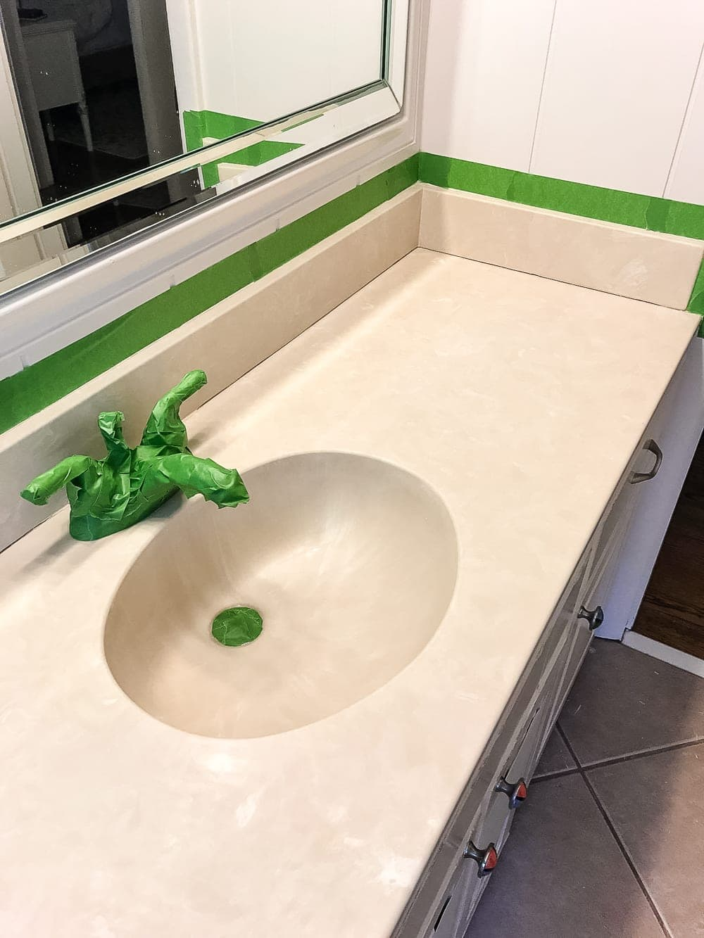 Diy Painted Bathroom Sink Countertop Bless 39 Er House