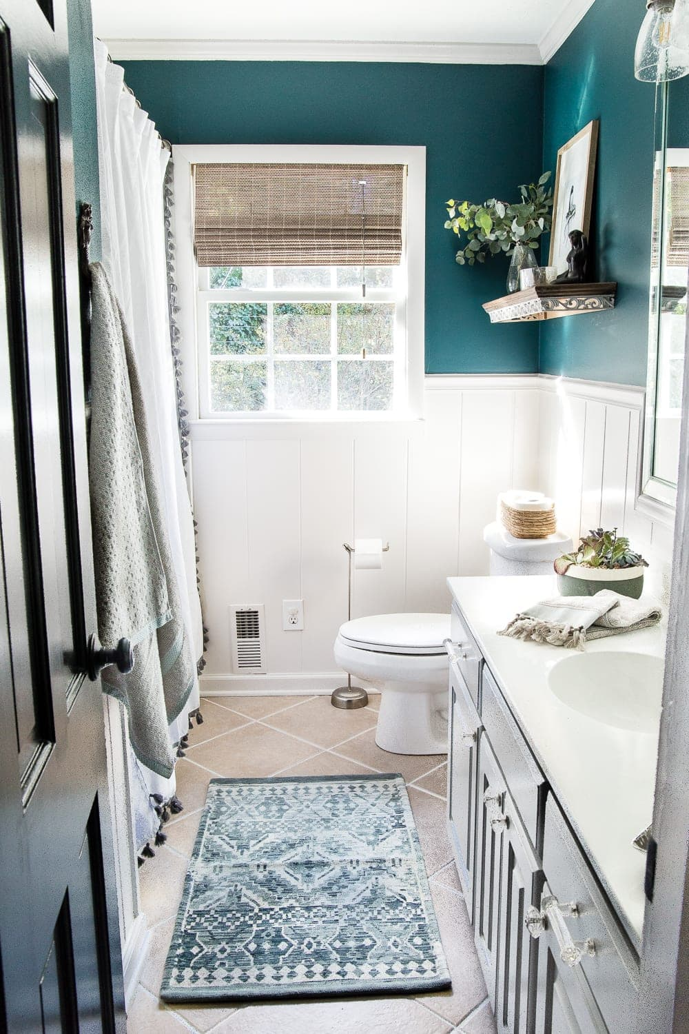 Kid\'s / Guest Bathroom Makeover Reveal - Bless\'er House