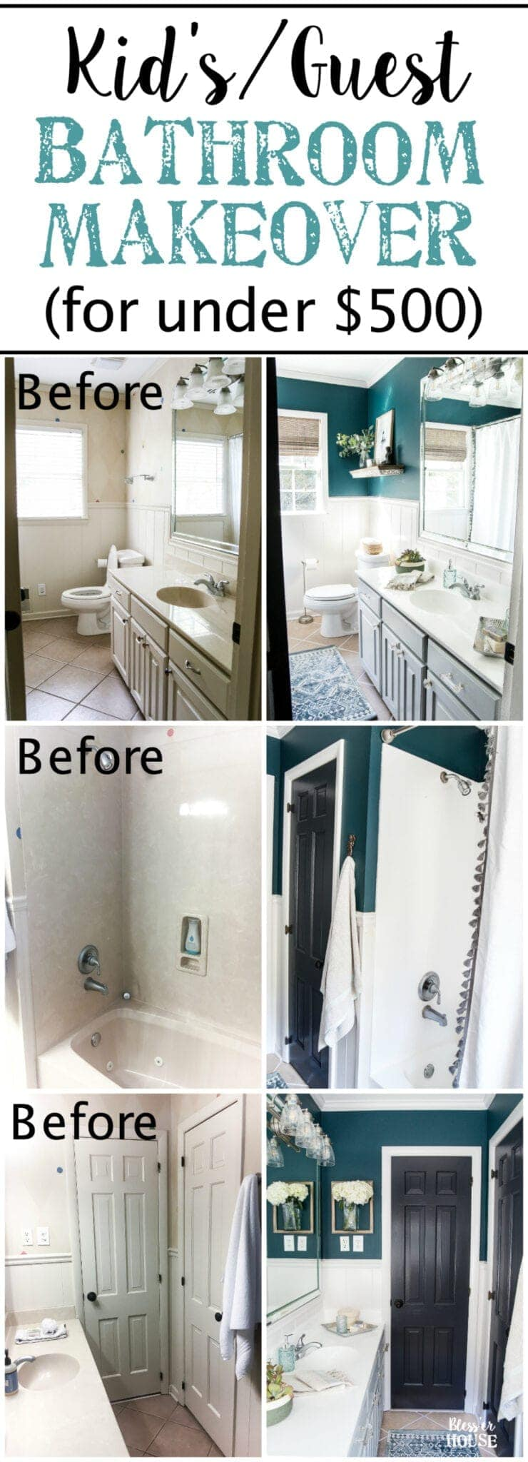 kids guest bathroom makeover on a budget blesserhousecom a shared kids