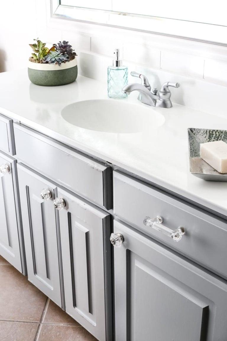 Painted Cabinet Bathroom Update