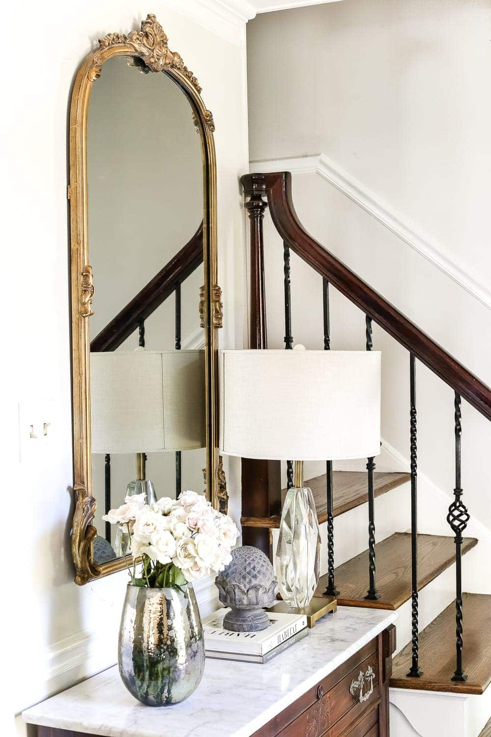 How to Make Your Home Look Luxurious on a Budget | blesserhouse.com - 8 tips to make your home look luxurious on a budget with ideas for choosing finishes, lighting, art, and small details that only look expensive. foyer entryway