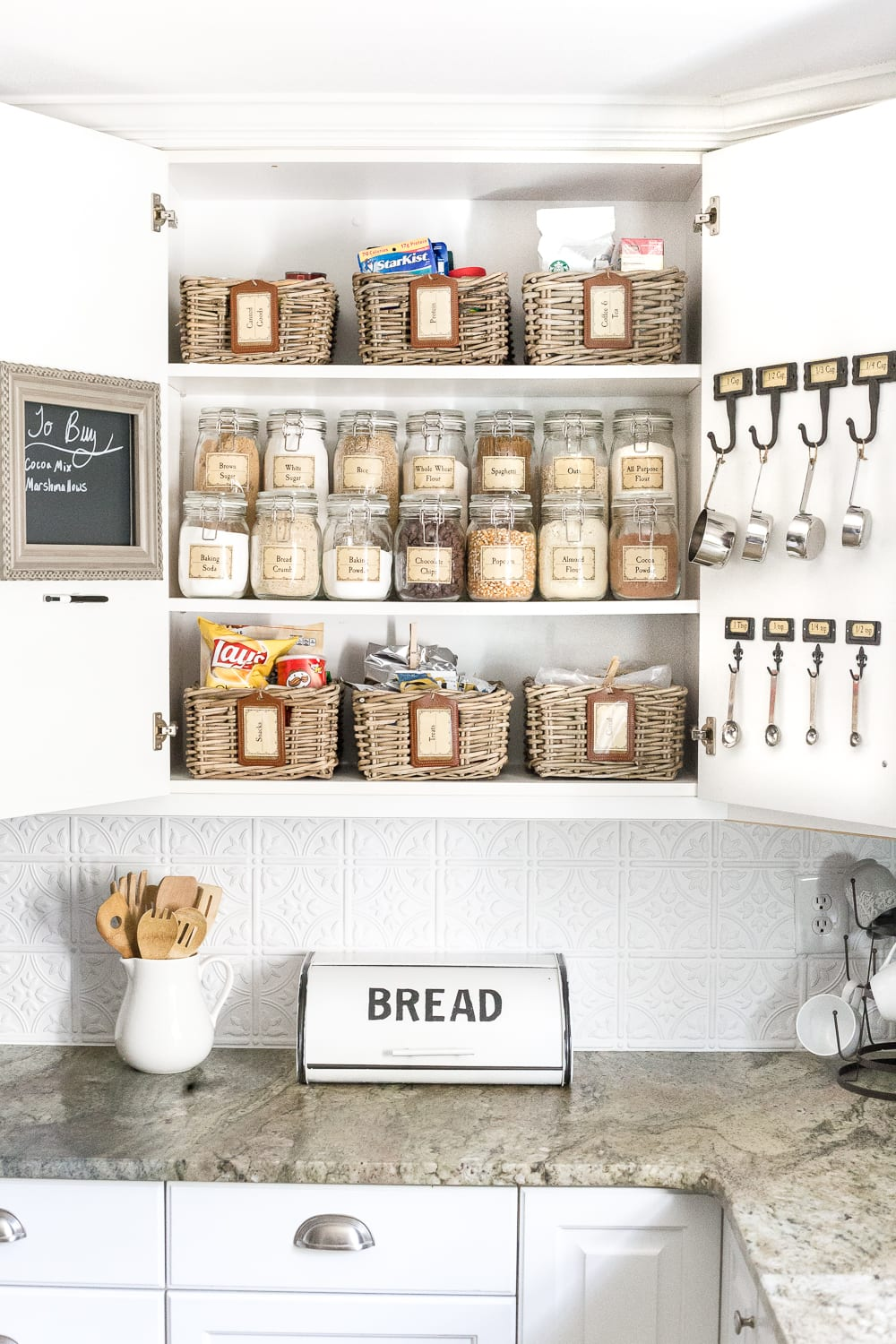 pantry cabinet organization and printable labels bless er house