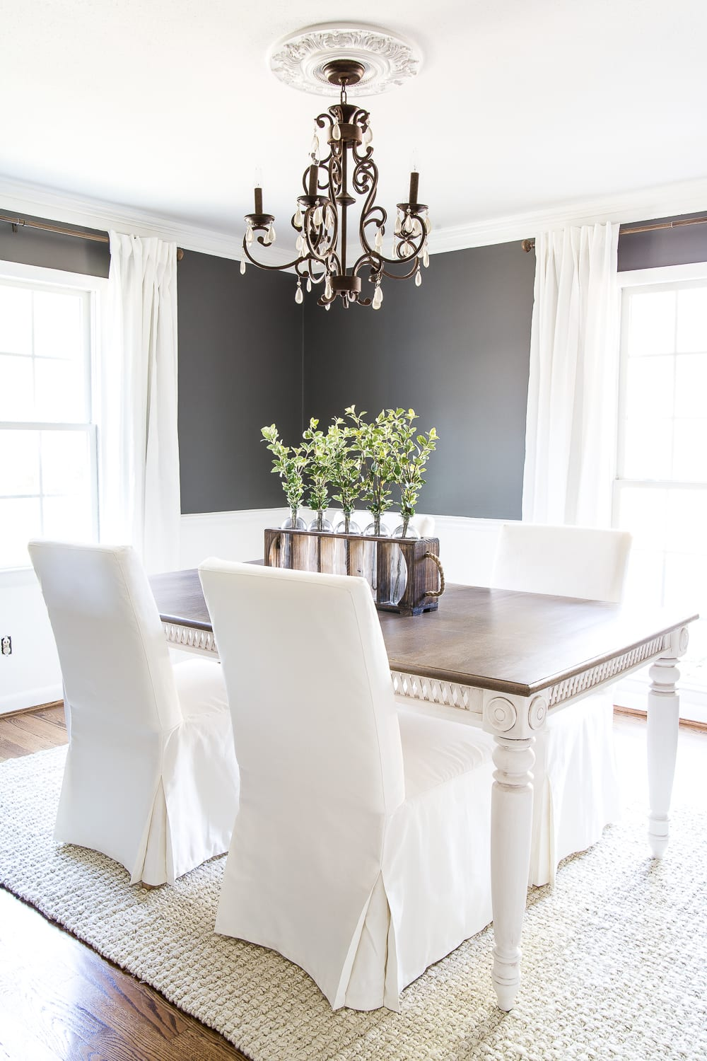 Two Tone Dining Table Makeover | Blesserhouse.com   How To Strip Down Old  Paint