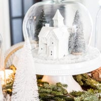 Christmas Village Snow Globe Centerpiece
