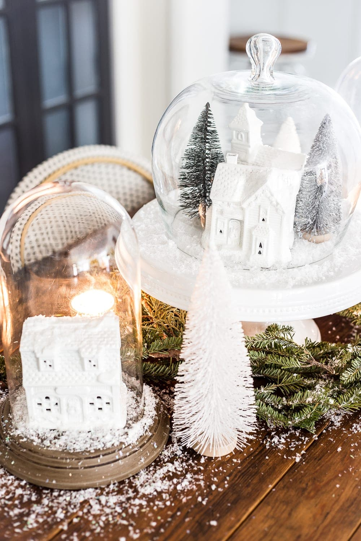 Christmas Village Snow Globe Centerpiece - Bless\'er House