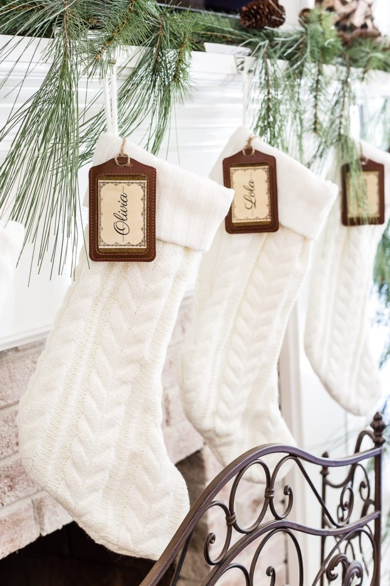 DIY Personalized Stocking Tags + Printable Labels