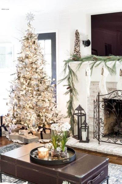 Seasonal Simplicity Christmas Living Room