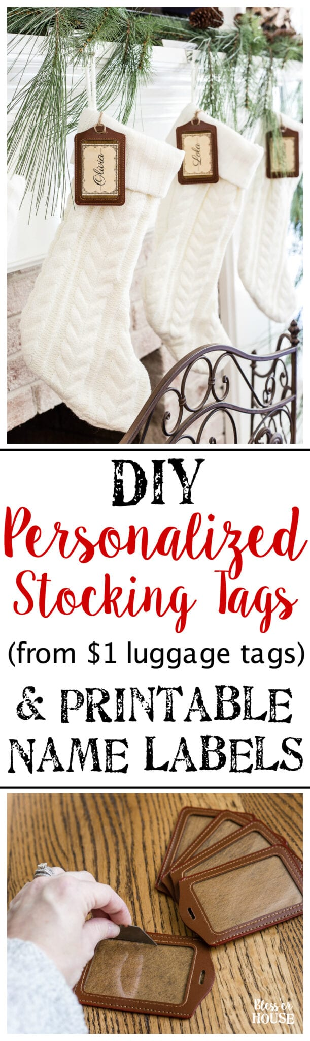 Diy Personalized Stocking Tags Printable Labels Bless Er House