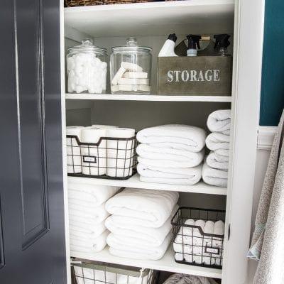 Linen Closet Organization Makeover