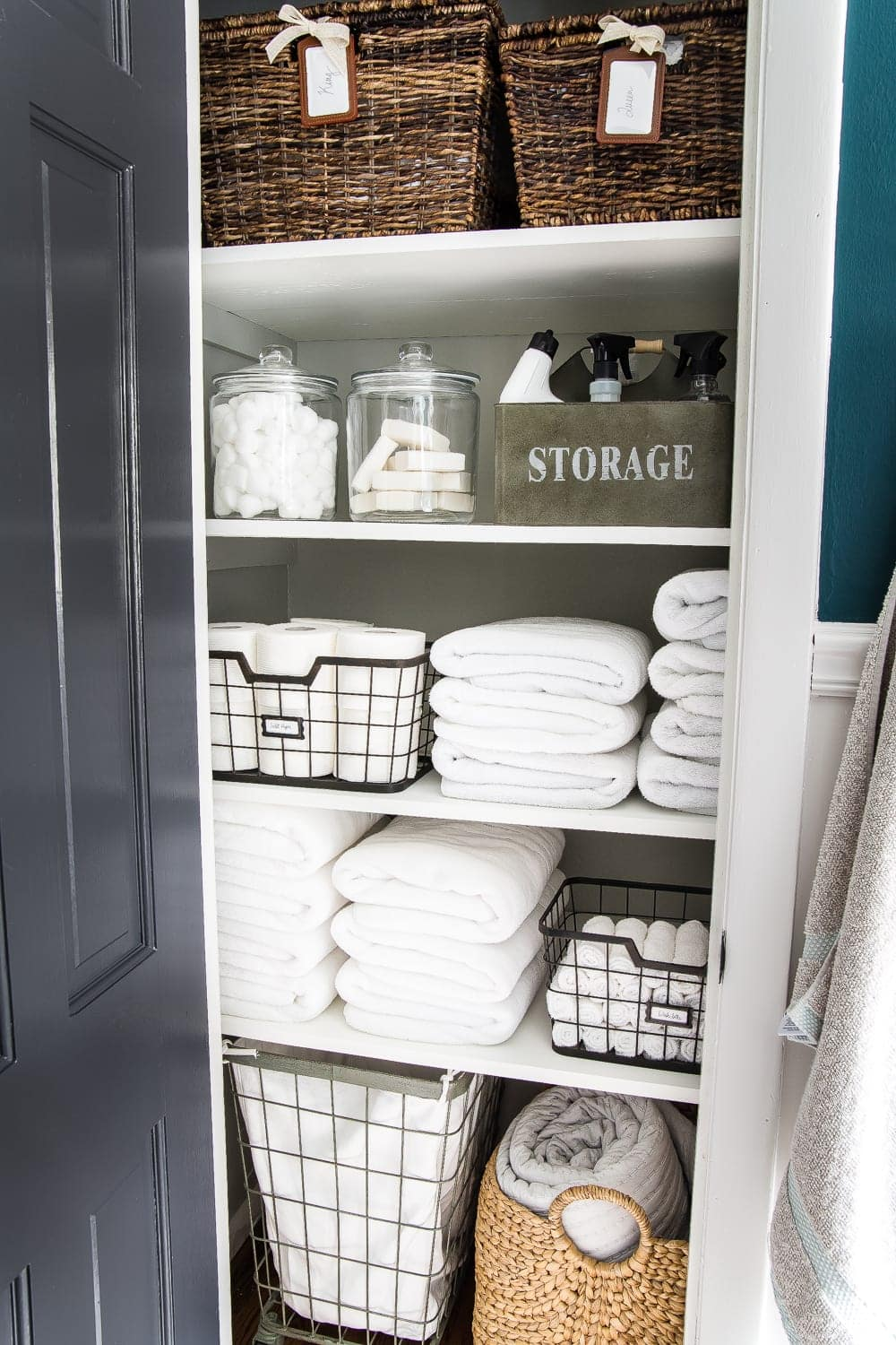 Linen Closet Organization Makeover Blesserhouse 7 Tips For Perfect