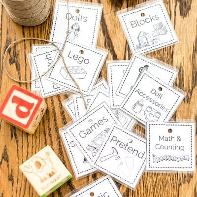 Toy Organization Printable Labels and Playroom Storage