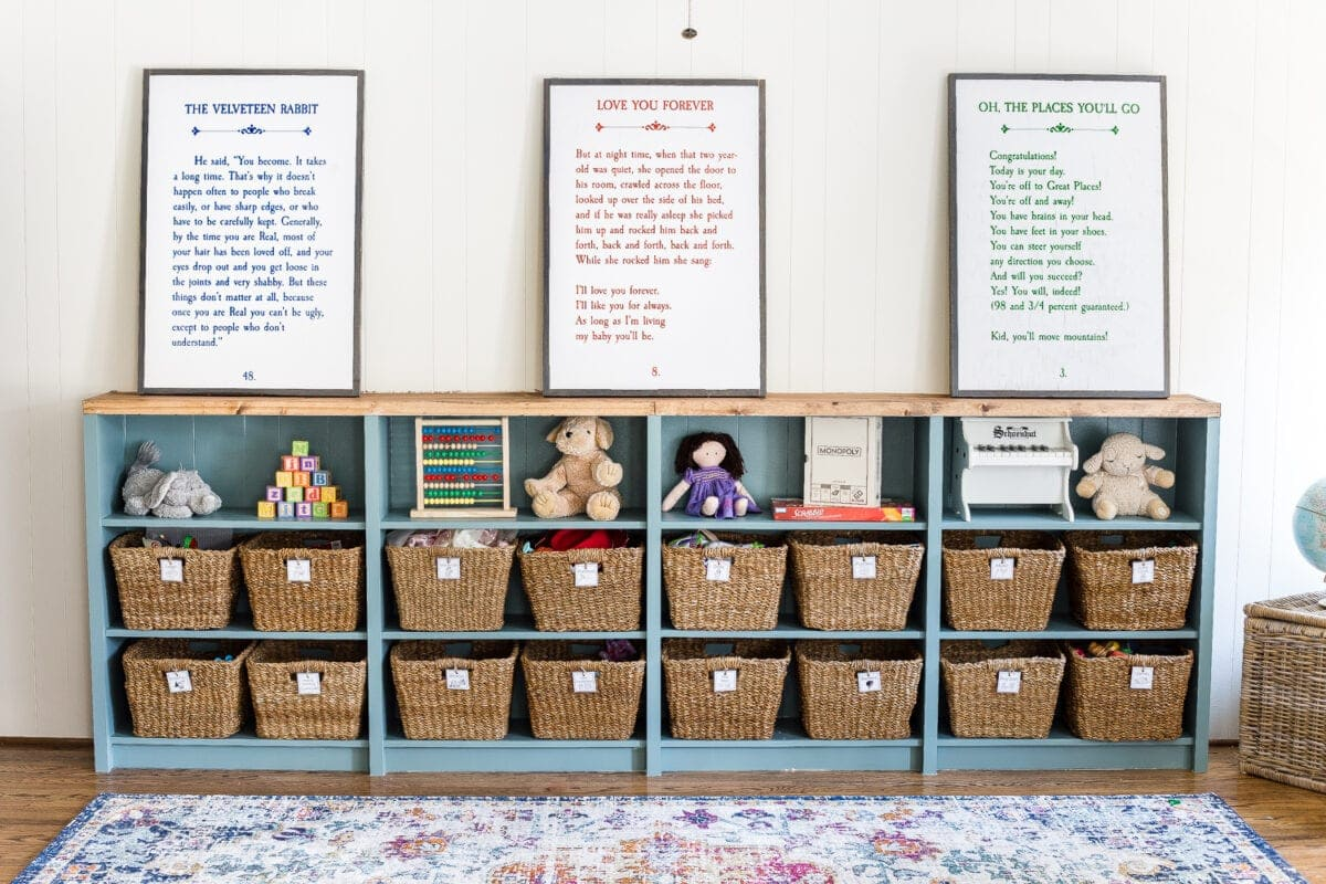 photograph about Free Printable Organizing Labels named Toy Company Printable Labels and Playroom Storage