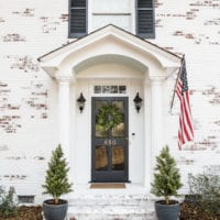Limewashed Brick Exterior Makeover Reveal