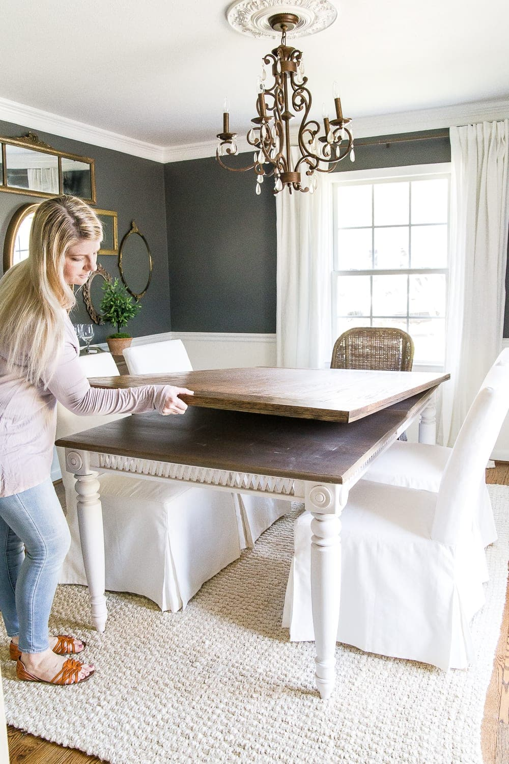Diy Retrofitted Dining Table Top Blesser House