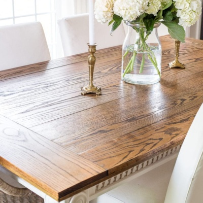 DIY Retrofitted Dining Table Top