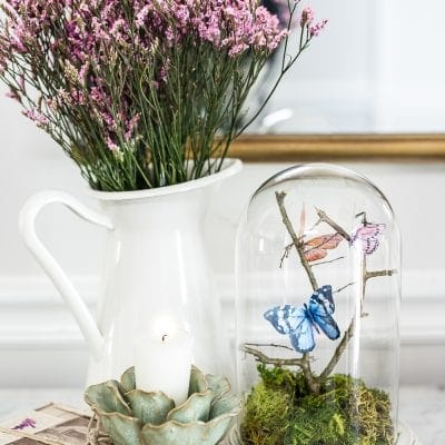 DIY Butterfly Terrarium Cloche
