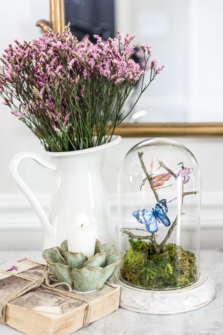 DIY Butterfly Terrarium Cloche