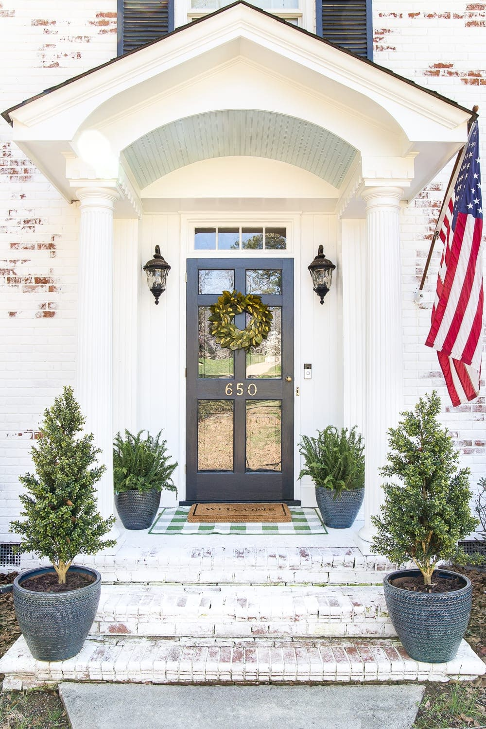 How to Decorate a Small Porch Stoop in 4 Easy Steps - Bless\'er House