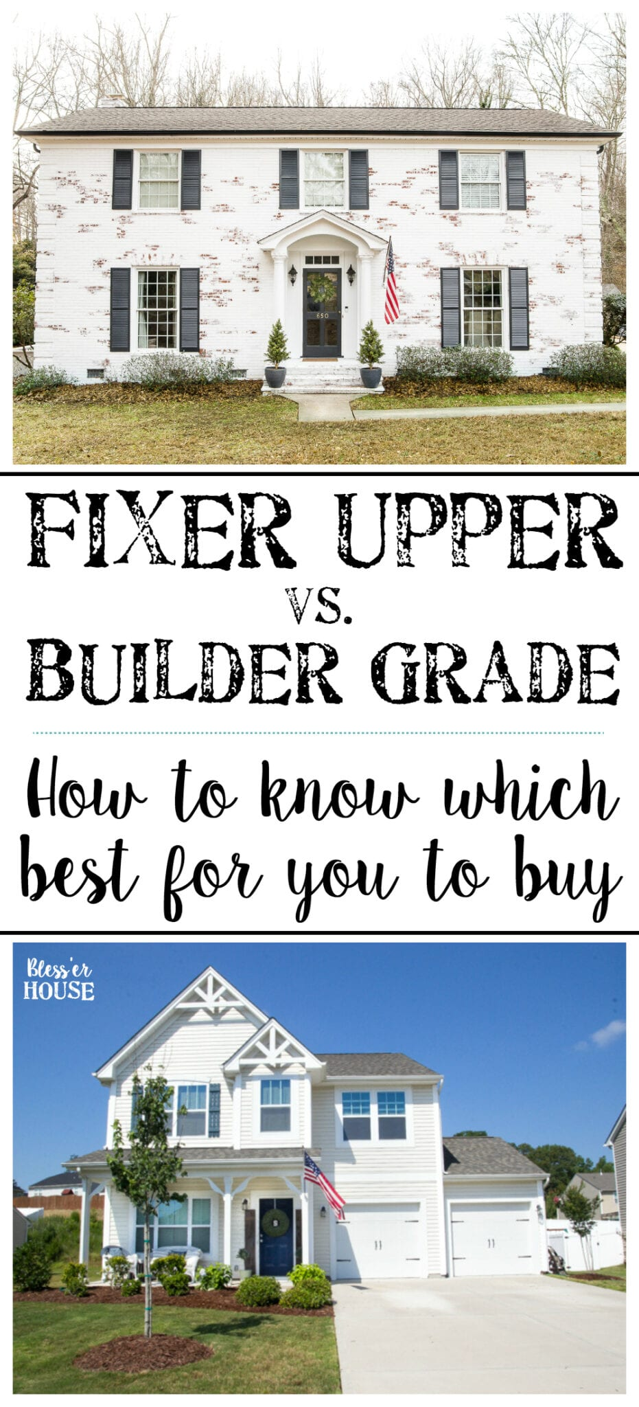 buying a new builder grade house vs an old fixer upper bless 39 er house. Black Bedroom Furniture Sets. Home Design Ideas