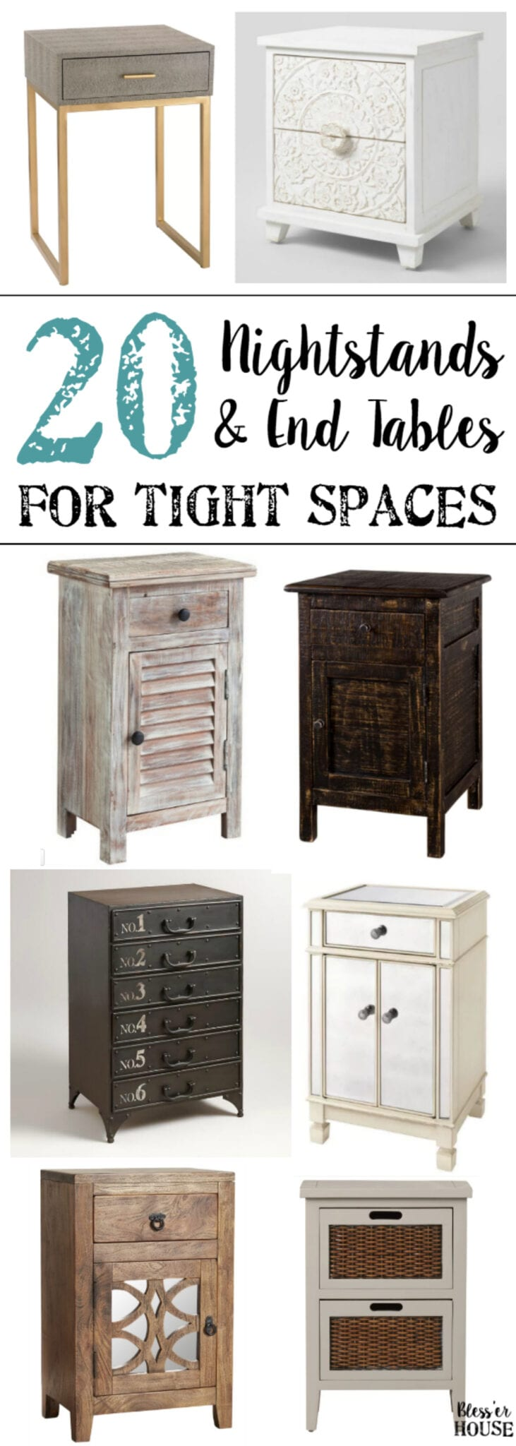 20 Nightstands and End Tables for Tight Spaces - Bless\'er House