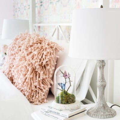 Baroque Table Lamp Makeover + Olivia's Bedroom Progress