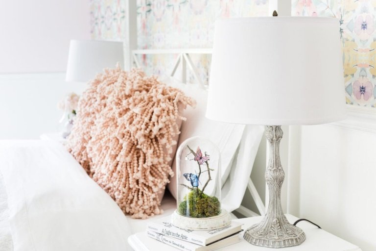 Baroque Table Lamp Makeover + Olivia's Bedroom Progress