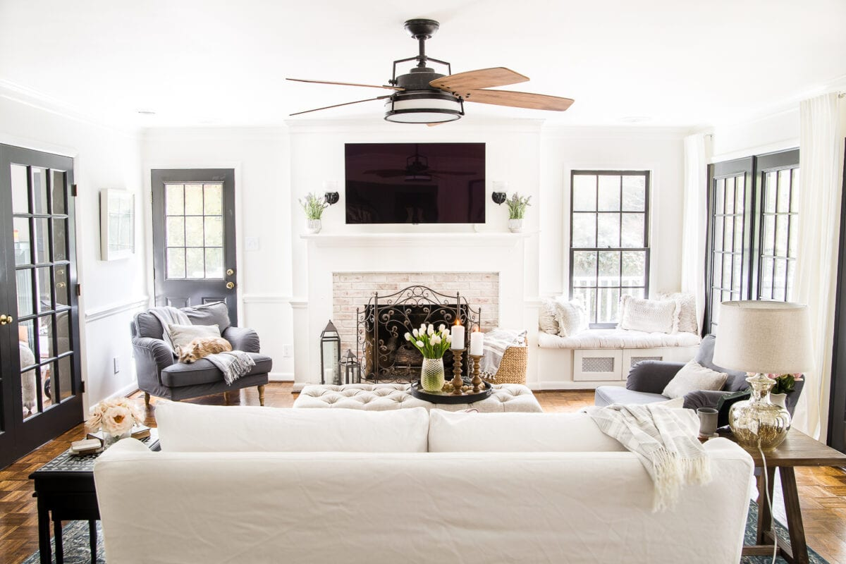 High contrast neutral living room