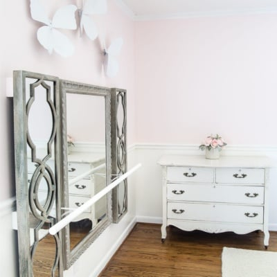 DIY Ballet Barre and How to Hang Wall Decor on a Chair Rail