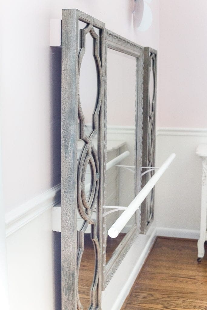 Diy Ballet Barre And How To Hang Wall Decor On A Chair