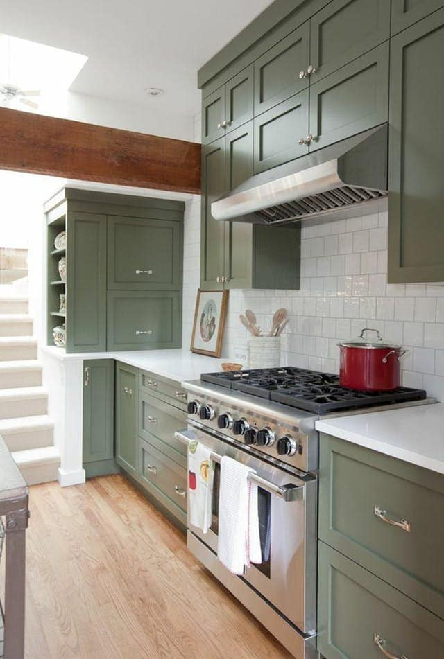 Green Kitchen Cabinet Inspiration - Bless\'er House