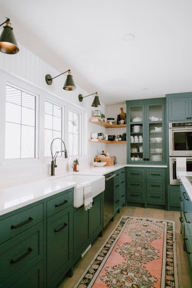 Best Light Green For Kitchen White Cabinents